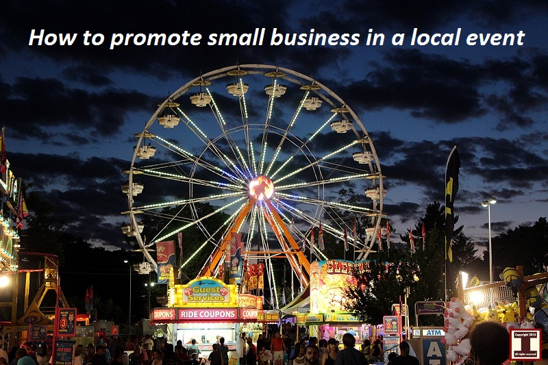 How to promote small business in a local event