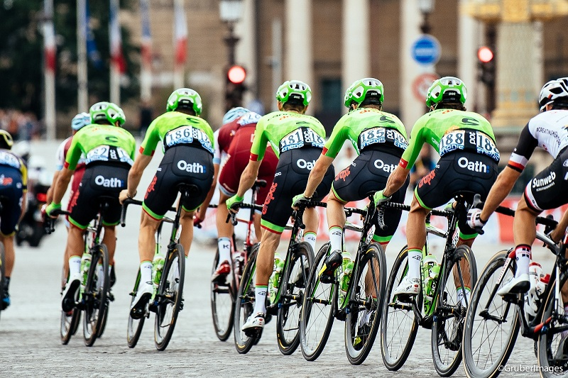 Sponsoring a bicycle race
