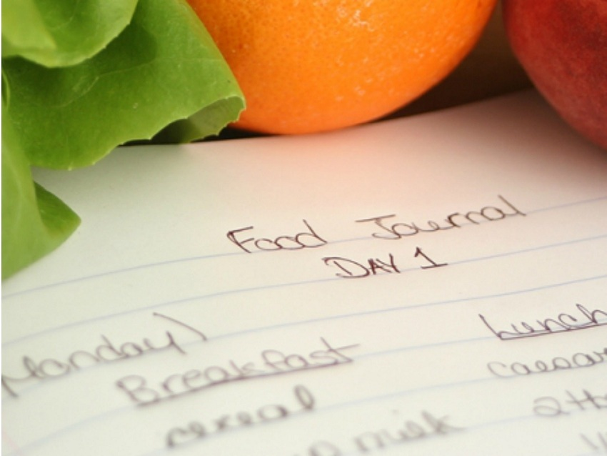 Writing down what you eat to calm anxiety when dieting