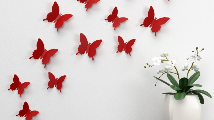 How to use butterflies to decorate?