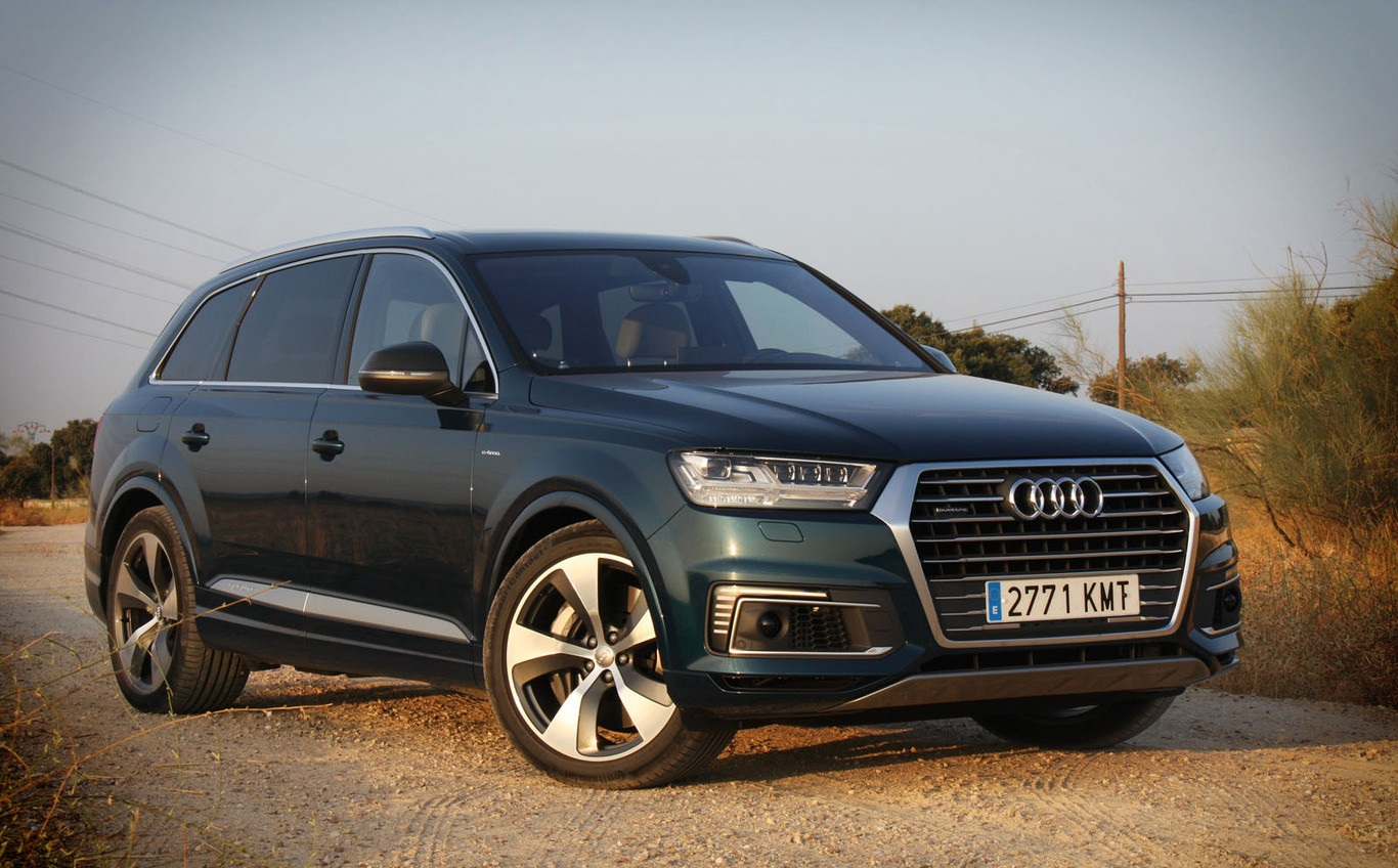 The Audi Q7 e-tron: A hybrid SUV of 373 HP, well seen for its Zero label despite its diesel engine
