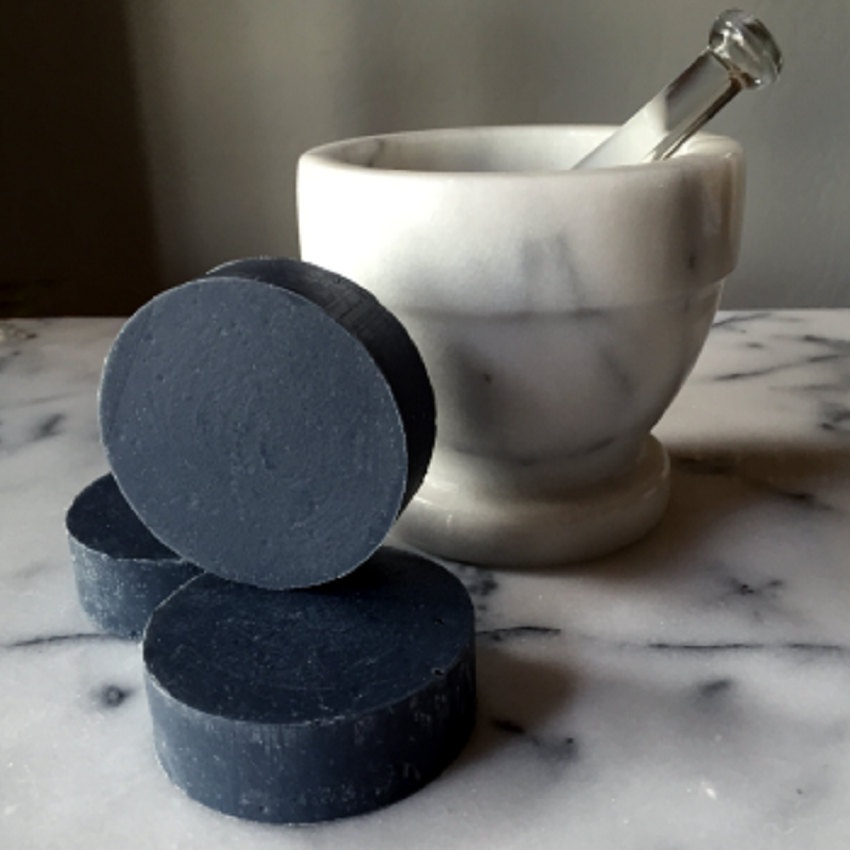 Activated charcoal body peeling black soap