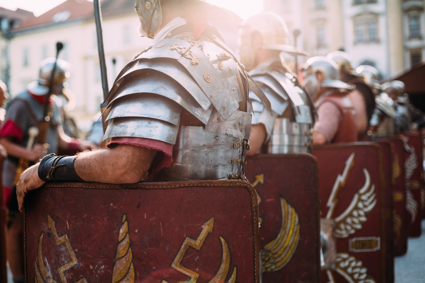 Hail the slots with the Shields of Rome