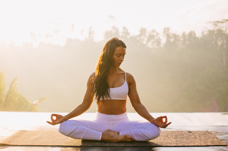 Yoga thus reduces stress and anxiety