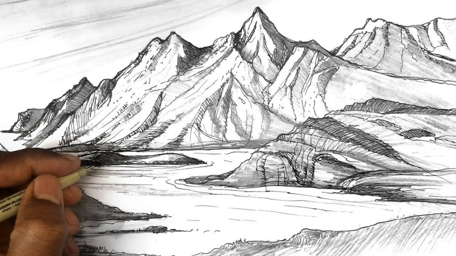 draw mountains