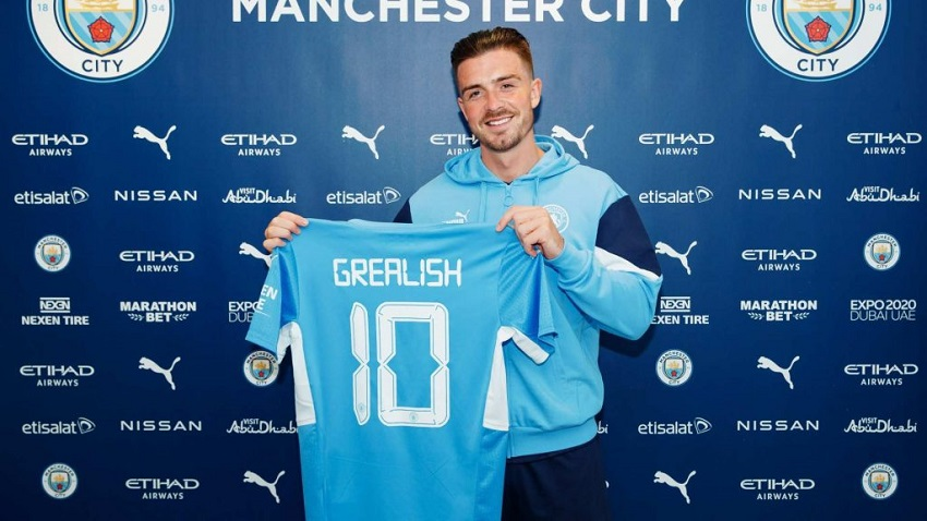 Manchester City Signs Jack Grealish from Aston Villa£100m